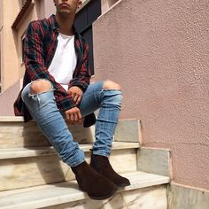 Chelsea boots and flannels meant to be together.