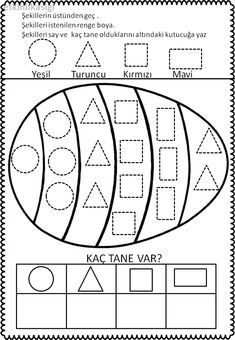 Kindergarten Math Worksheets, Preschool Learning, In Kindergarten, Fun Learning, Preschool Activities, Tracing Shapes, Early Childhood Activities, Early Education, Reading Skills