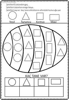 geometrik şekiller çalışma sayfası