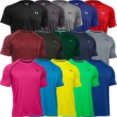 Under Armour 2016 Mens T-shirt HeatGear Tech Short Sleeve Training Sports Tee