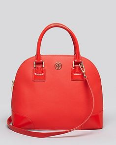 Tory Burch Satchel - Robinson Small Dome, Poppy Red