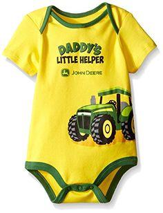 John Deere Baby Daddy's Little Helper Bodyshirt #JohnDeere #DaddysHelper #Tractor #Bodysuit #YankeeToyBox