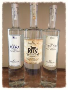 vodka, gin and rum from Barreling Tide Distillery, Nova Scotia