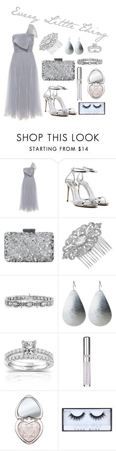 """Every Little Thing"" by kathrina1yana2jemma3cloe4 ❤ liked on Polyvore featuring RED Valentino, Oscar de la Renta, Jon Richard, Annello, Chantecaille, Too Faced Cosmetics and Huda Beauty"
