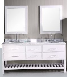 72 Inch Double Bathroom Vanity in Pearl White UVDEDEC077BW72