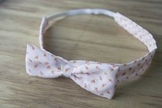 DIY fabric bow headband : rose and mint