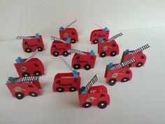 Brandweerauto rozijntjes