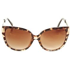 Brown and Gold Leopard Print Cat Eye Sunglasses found on Polyvore