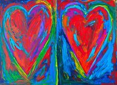 Two Hearts, Mixed Media, My Arts, Painting, Painting Art, Mixed Media Art, Paintings, Drawings