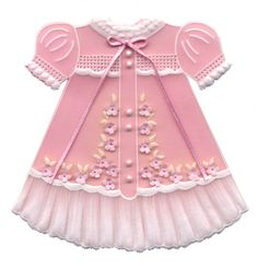 Cookie Idea | Pink Baby Dress #timelesstreasure.theaspenshops.com/product/baby-shower-cookies-for-a-girl.html