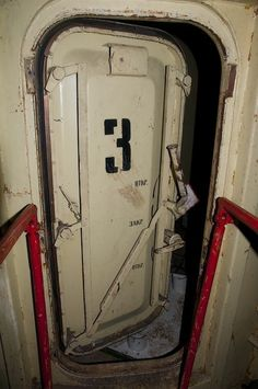 Doorway to USSR Command Center: Ready To Withstand A Nuclear Attack