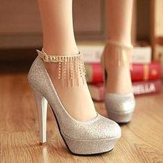 blingbling rhinestone tassel shoes - http://zzkko.com/note/13330 $17.86