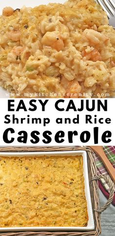 Shrimp And Rice Casserole Easy Shrimp And Rice Casserole A Delicious One Pot One Pan Meal With Shrimp Trinity Cream Of Mushroom Soup Cream Of Cheddar Soup Cooked Rice And Cajun Seasoning Shrimprecipes Cajuncasserole Seafoodcasserole Mykitchenserenity Cajun Shrimp And Rice Recipe, Shrimp And Rice Casserole, Easy Chicken Dinner Recipes, Shrimp Recipes Easy, Cajun Recipes, Cooking Recipes, Meals With Shrimp, Creole Recipes, Delicious Recipes