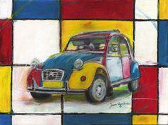 Mondriaan Eend door Nijenhuis