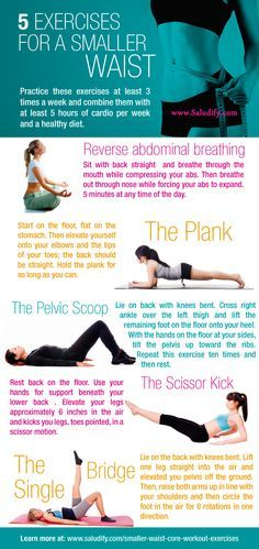 5 exercises for a smaller waist, leaner core - hello Pilates exercises that I have been looking for!!!