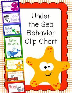 Behavior Clip Chart - Behavior Management - UNDER THE SEA 2, $