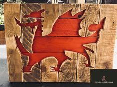 Available to order through Facebook Log Table, Welsh Dragon, Pallet Wall Art, Bird Boxes, Table Centers, Milling, Woodworking, Facebook, Birdcages