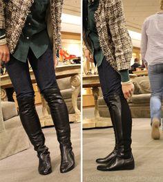 Stuart Weitzman 50/50s Black Riding Boots, Leather Riding Boots, Leather Pants, 5050 Boots, Bootie Boots, Shoe Boots, Tall Boots, Stuart Weizman, Elle Blogs