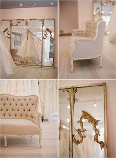 vintage gold mirror …