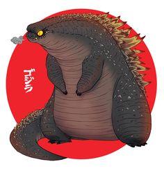Fun GODZILLA Fan Art and Japanese Fans say America's Godzilla is Too Fat — GeekTyrant