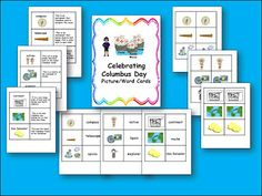 LMN Tree: Great Free Columbus Day Resources and Free Picture/Word/Fact Cards Fun Classroom Activities, Autumn Activities, Kindergarten Activities, Learning Activities, Classroom Ideas, Social Studies For Kids, Teaching Social Studies, Chris Columbus, Christopher Columbus