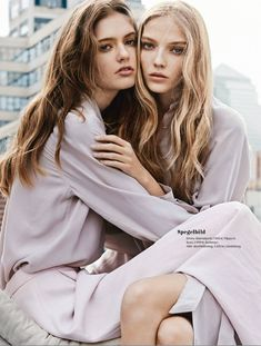 Fashion Editorial : Allie Lewis & Emmy Rappe by Eric Josjo for Elle Sweden…