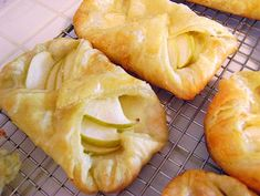 Brie and Apple Tarts. These are amazing! Love making them for breakfast with I have guests!--I used filo dough which is thinner than pastry dough I think, and also nectarines instead of apple but it came out good.  The recipe made 5 pastries and were really big.