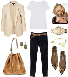 """""""Leopard Flats"""" by bluehydrangea ❤ liked on Polyvore"""