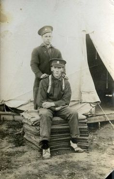Two army privates | saskhistoryonline.ca