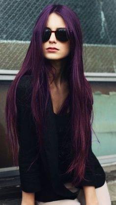 Charming Dark Purple Vampy Hair color