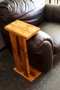 Reclaimed Arm-Rest Table by WoodologyShop on Etsy