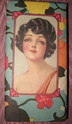 Vintage Art Deco  Flapper Candy Nut Box Art Deco Colors in Great Conditio | eBay