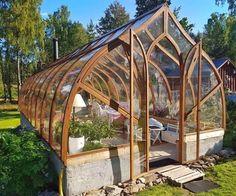 Diy Greenhouse Plans, Backyard Greenhouse, Small Greenhouse, Greenhouse Wedding, Homemade Greenhouse, Portable Greenhouse, Dream Garden, Garden Inspiration, Organic Gardening
