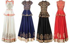 peplum-lehenga : wow sone unusual ways to dress fr weddings