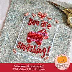 You Are Smashing! PDF Cross Stitch Pattern / The Frosted Pumpkin Stitchery