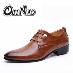 Plus Size Mens Pointed Toe Dress Shoes