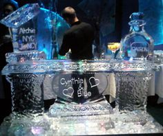 "Engagement Party Ice Bar with Luge & Patron Bottle 40"" x 6feet x 20"""