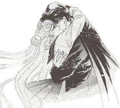 Usagi hugging her lover