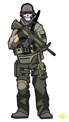 "Lieutenant Simon ""Ghost"" Riley by flashmcgee"