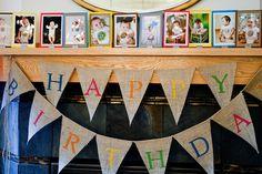 first birthday photo display - Google Search