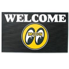 Black Solid-Rubber WELCOME Mat with MQQN Logo