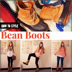 How to Style Bean Boots- aka cute ways to wear my hiking boots.