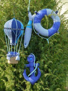 Купить Морской набор текстильный (якорь, спасательный круг, рыба) - морской…