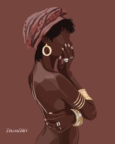 Photo shared by Black Art on March 2020 tagging .You can find African art and more on our website.Photo shared by Black Art on March 2020 tagging . Black Art Painting, Black Artwork, Black Love Art, Black Girl Art, Afro Art, Beauty Art, African Art, Female Art, Digital Illustration