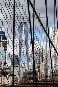 Brooklyn Bridge, Utility Pole, Skyscraper, New York, Building, Travel, Skyscrapers, New York City, Viajes