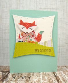 Jen Carter, Lil' Inker Designs, LID, Hey Foxy Gal, fox card,