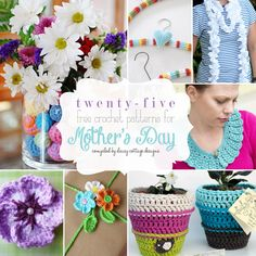 Last minute mother's day gift ideas for crocheters. This collection of free crochet patterns compiled by Daisy Cottage Designs is sure to have the perfect gift for every mother.