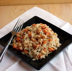 Turkey and roasted sweet potato risotto is a delicious and inventive way to turn your Thanksgiving leftovers into a company worthy meal. Turkey Recipes, Baby Food Recipes, Healthy Recipes, Sweet Potato Risotto, Country Cooking, Cooking Turkey, Roasted Sweet Potatoes, Yummy Appetizers, Family Meals