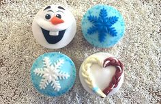 Frozen cupcakes, Olaf, Snowflakes and Elsa and Anna hair braid