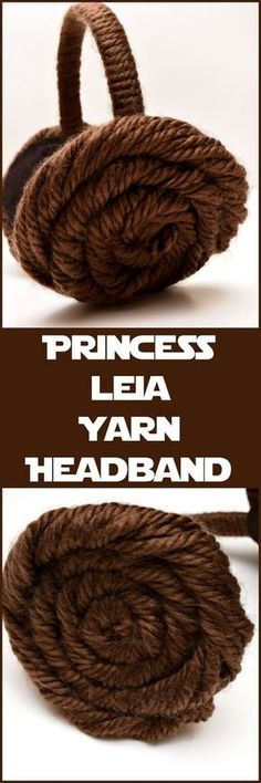 Easy to make DIY Princess Leia yarn headband. Perfect for Leia cosplay. Also makes a great Star Wars party idea!
